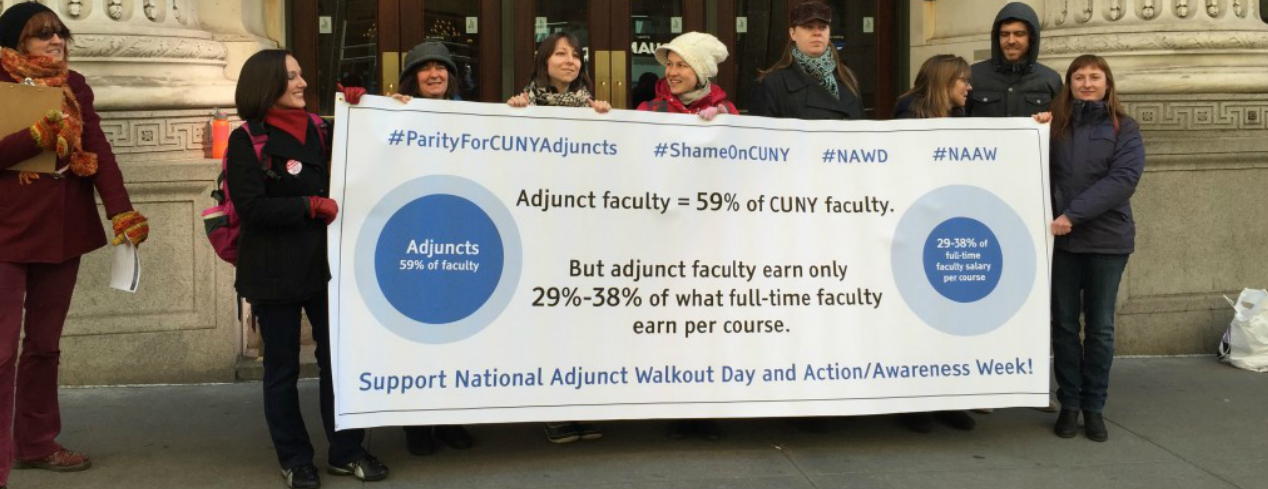 National Adjunct Walkout Day (#NAWD) at the GC!