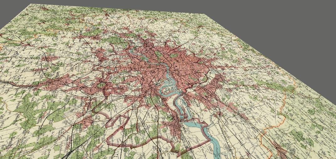 A flat map of London.