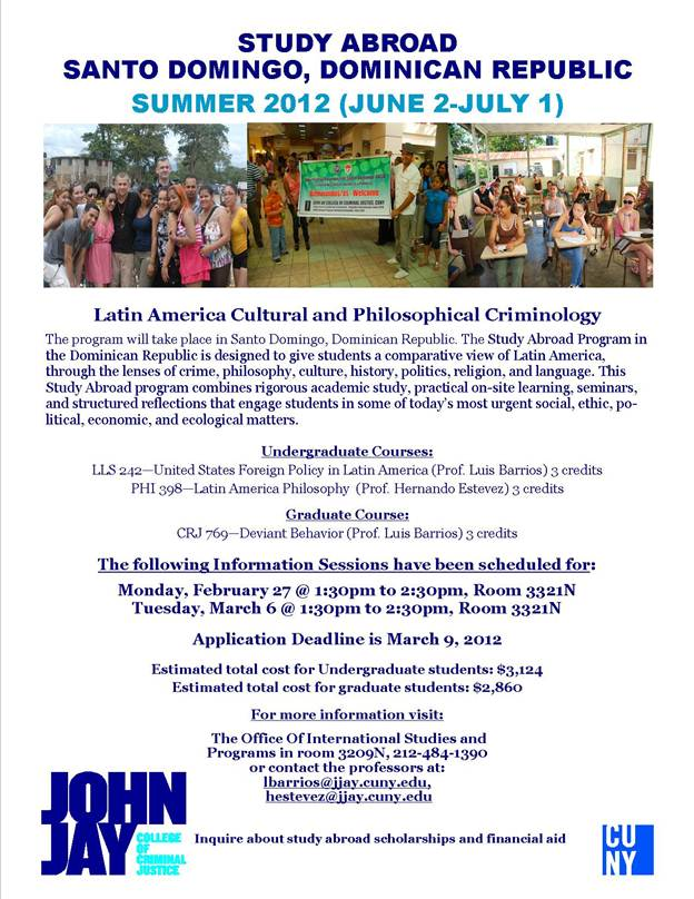 Latin America Cultural and Philosophical Criminology - Study abroad