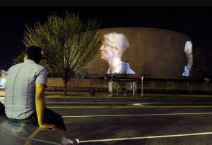 Doug Aitken's SONG 1 Projection at Hirshhorn Museum, Washington, D.C. 2012 Photo: Matt McClain for Washington Post