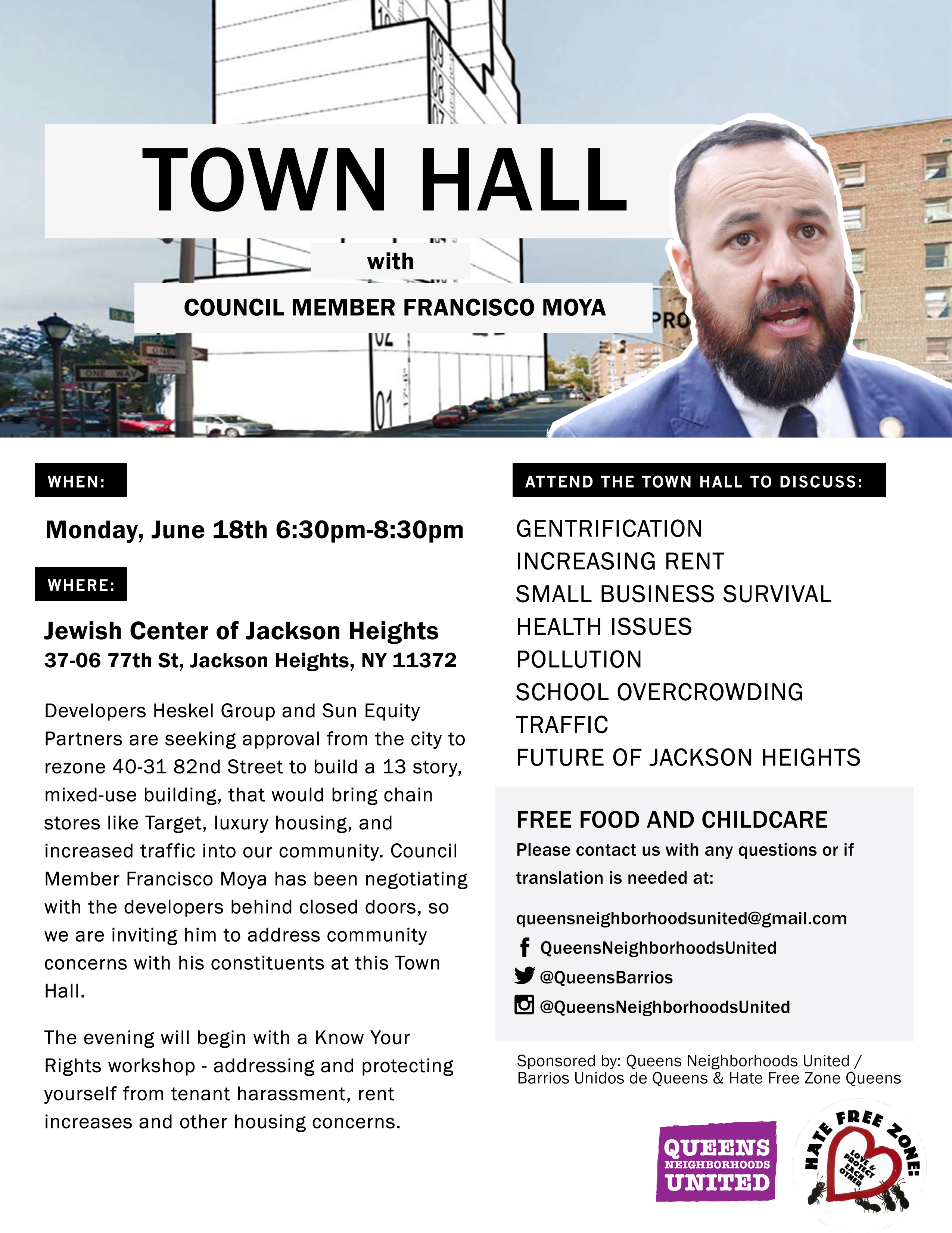 Flyer for QNU townhall