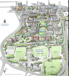Map of Braamfontein Campus East