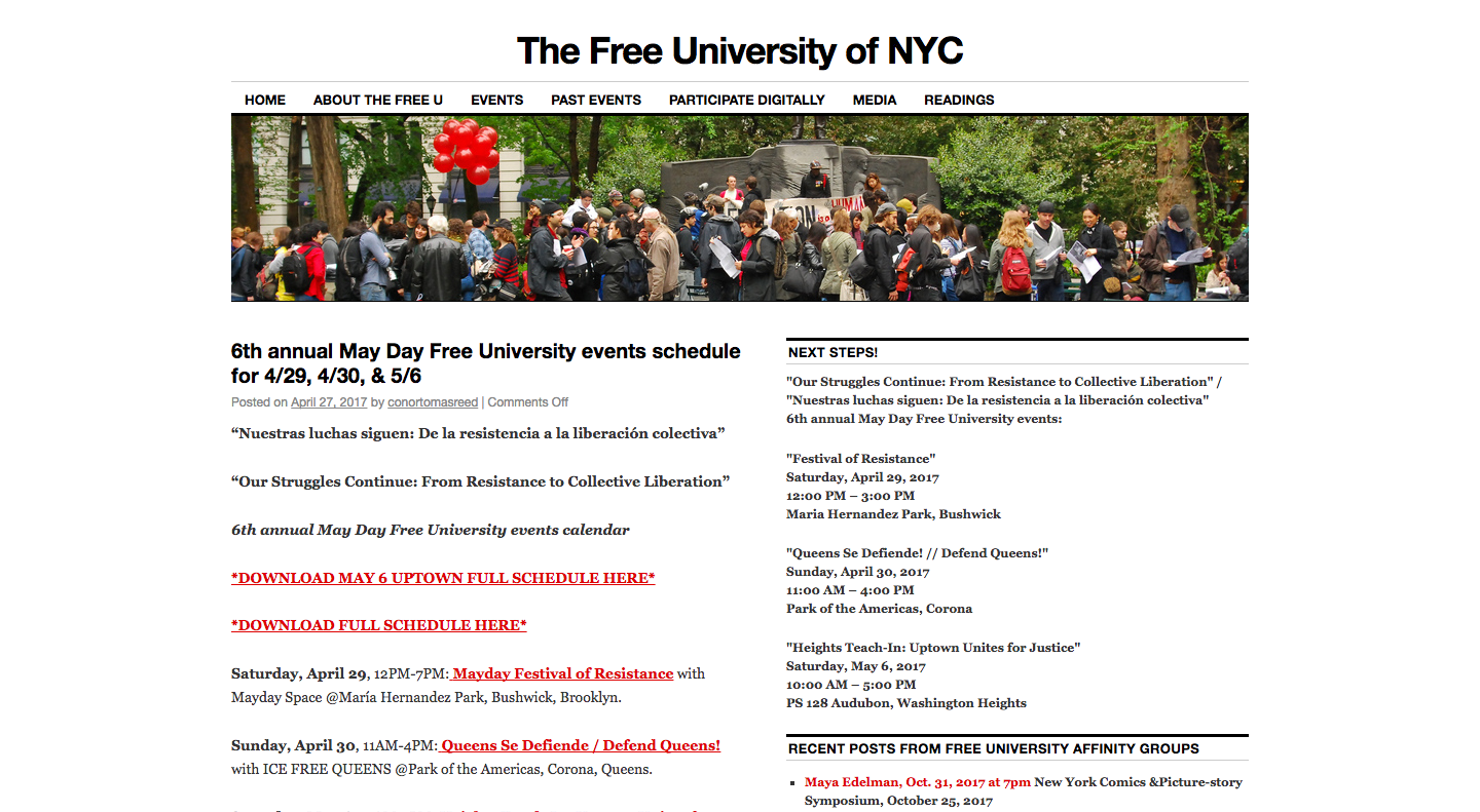 The Free University of NYC