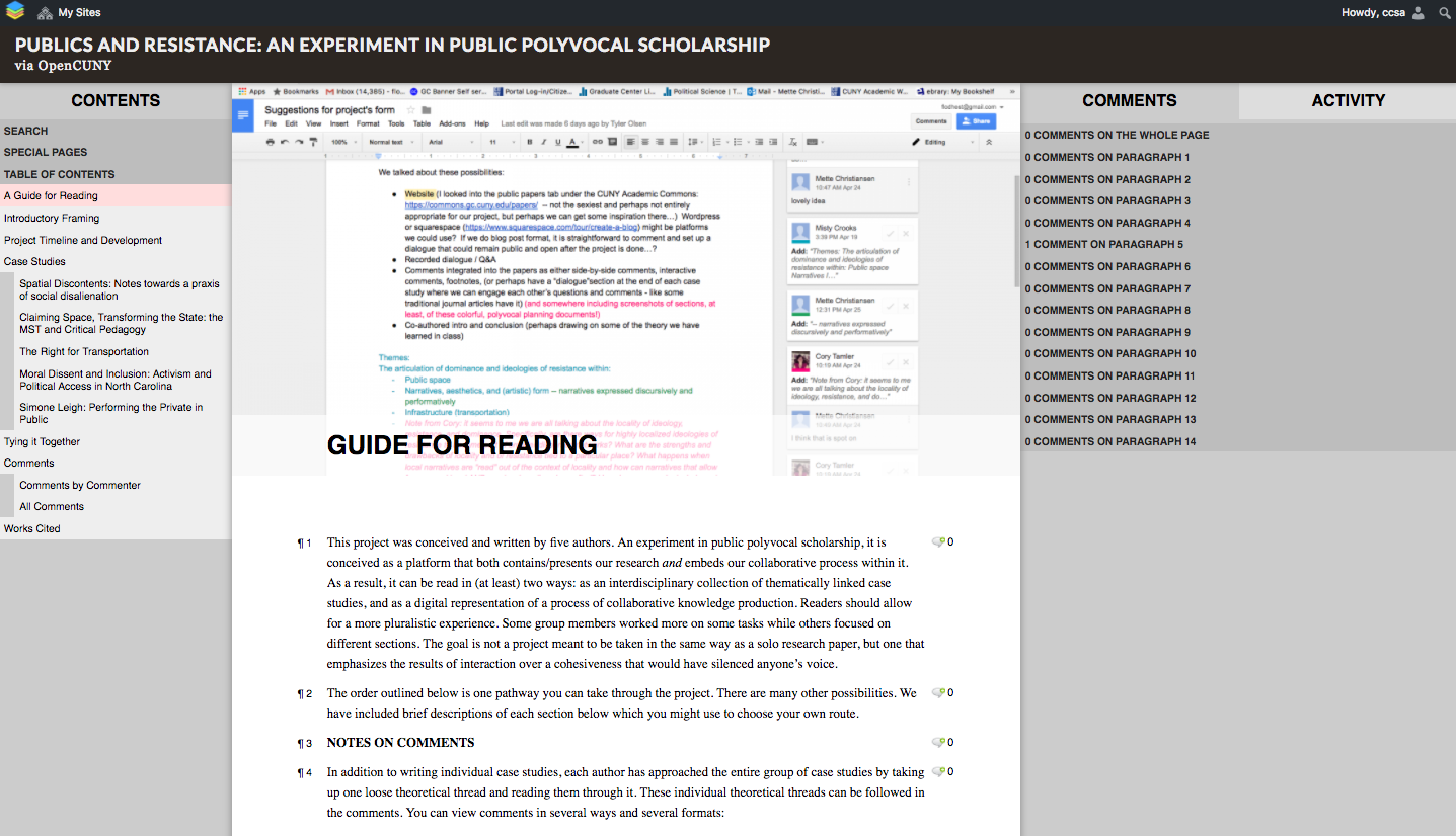 Publics and Resistance: An Experiment in Public Polyvocal Scholarship