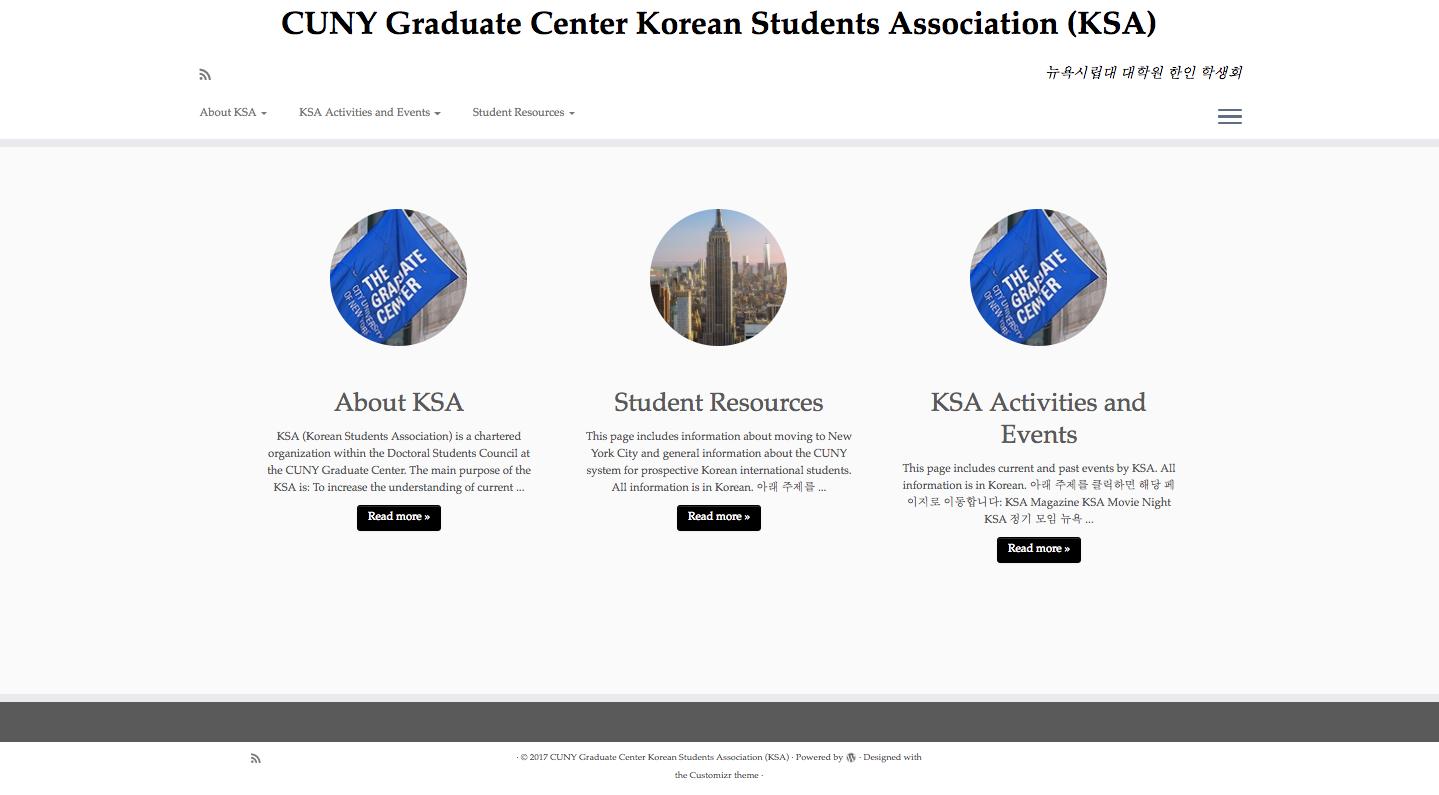 Korean Students Association Site