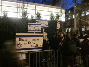 "The ""Pro-Zionist"" barricade, Brooklyn College, 2/7/13"