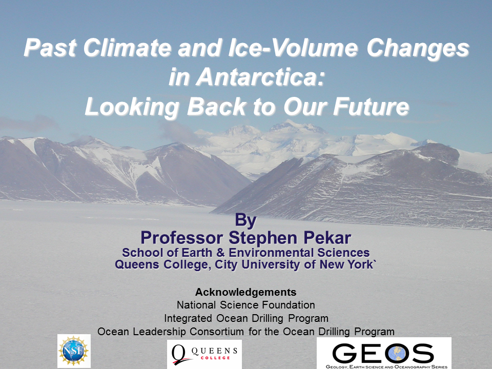 Past Climate and Ice-Volume Changes in Antarctica: Looking back to our Future
