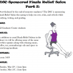 Finals Relief Salons: Monday 5/23 & Tuesday 5/24