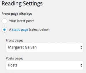 Settings>Reading