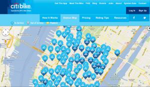 Citi Bike Station Map 2:30 on 9-18-2013