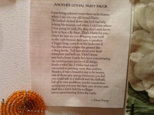 Another Lethal Party Favor, by Dean Young