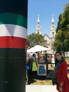 Svetlana - a GC Student and one of the great thinkers who were at my talk - in North Beach