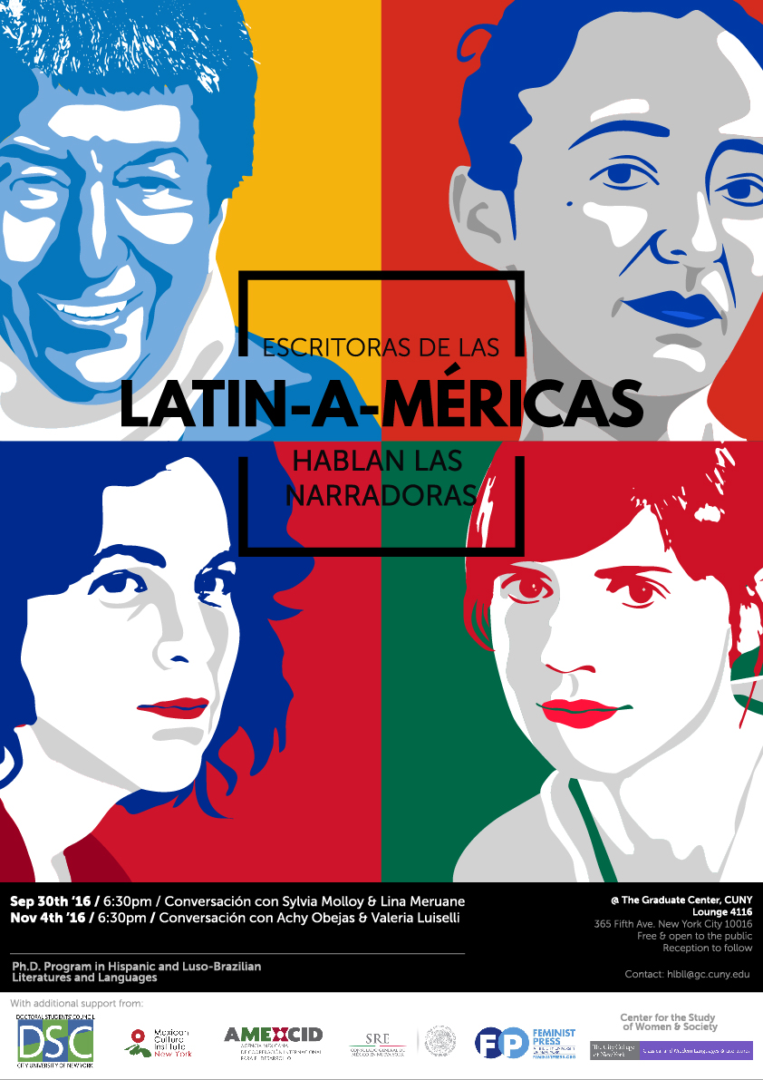 Latin American Women writers. Poster design by Eduardo Roncal